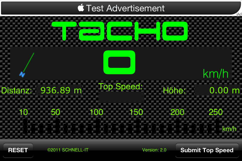 Screenshot Carbon-Tacho